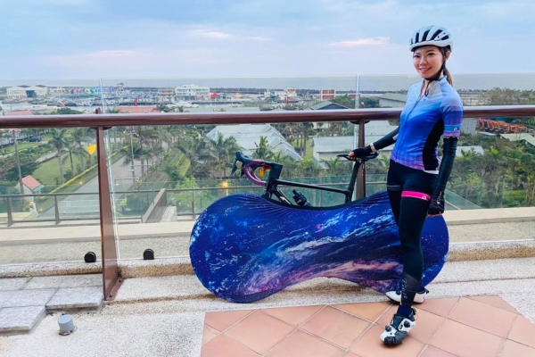 單車女神「夏美」單車環島到花蓮福容!