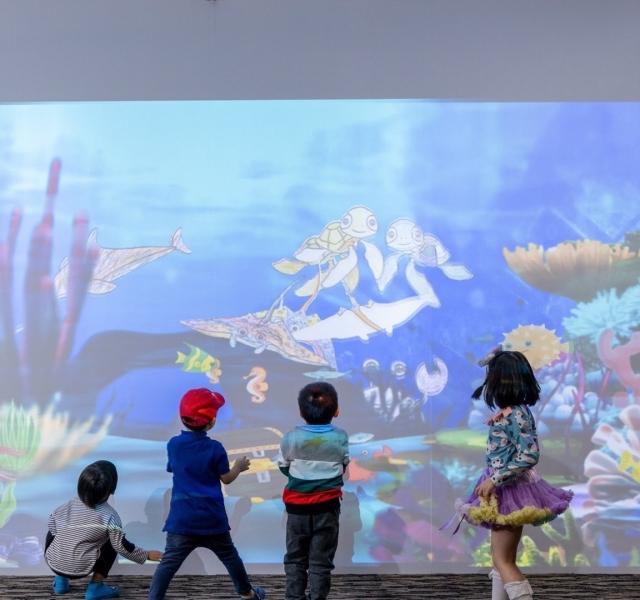 虛擬彩繪「魔法水族箱」