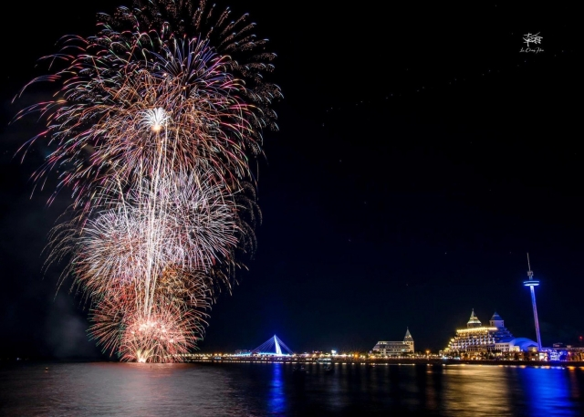520煙火點亮漁人碼頭 福容飯店住房爆滿
