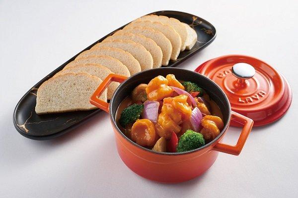 Curry Shrimp Hot Pot with Pumpkin